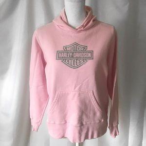 Harley Davidson Pink Hoodie Sweatshirt